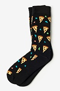 Pizza Party Black Sock
