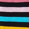 Black Carded Cotton Pomona Stripe Sock