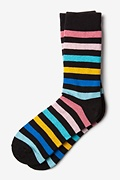 Pomona Stripe Black Sock Photo (0)