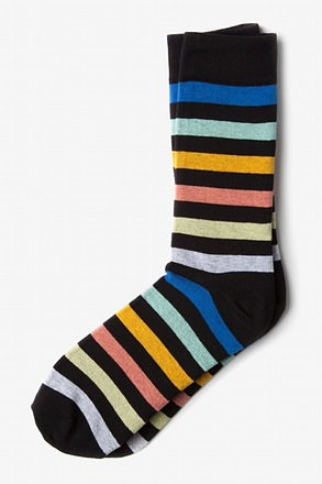 Pomona Stripe Black Sock