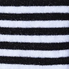 Black Carded Cotton Seal Beach Stripe