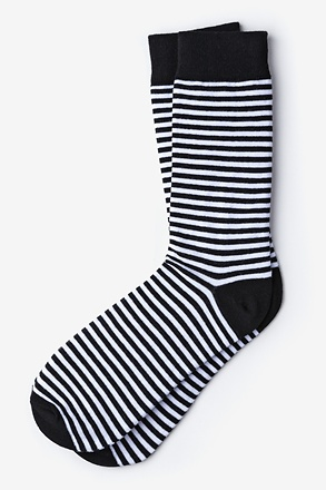Seal Beach Stripe Black Sock