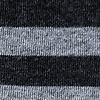 Black Carded Cotton Stanton Stripe Sock
