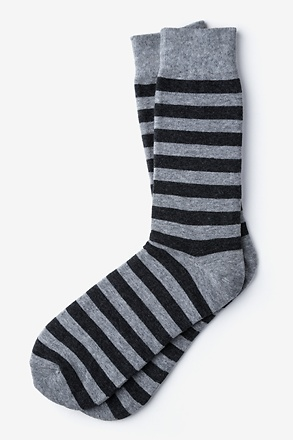 _Stanton Stripe Black Sock_