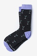 Black Carded Cotton Straight Up & Dirty Women's Sock