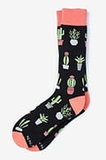 Succulent Black Sock