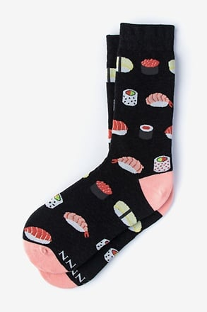 _Sushi Addict Black Women's Sock_