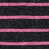 Black Carded Cotton Villa Park Stripe Sock