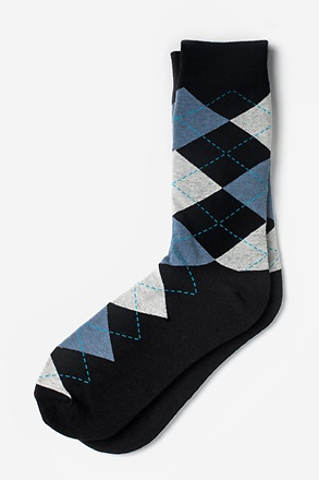 _Westminster Argyle Black Sock_