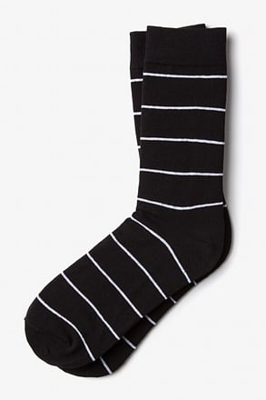 Whittier Stripe Black Sock
