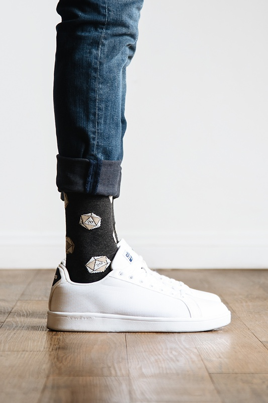 Yes They're Natural   D&D   D20 Black Sock