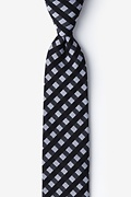 Black Cotton Alton Skinny Tie