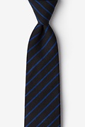 Black Cotton Arcola Extra Long Tie