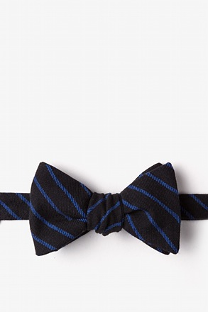 _Arcola Black Self-Tie Bow Tie_