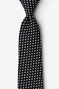 Black Cotton Bandon Extra Long Tie
