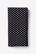 Black Cotton Bandon Pocket Square