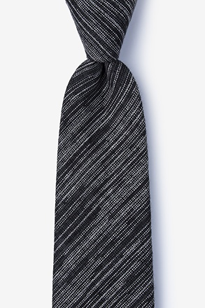 Bates Black Extra Long Tie