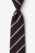 Black Cotton Beasley Extra Long Tie