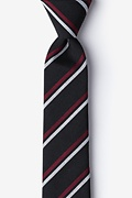 Black Cotton Beasley Skinny Tie