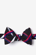 Black Cotton Bellingham Butterfly Bow Tie