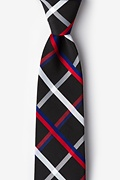 Black Cotton Bellingham Extra Long Tie
