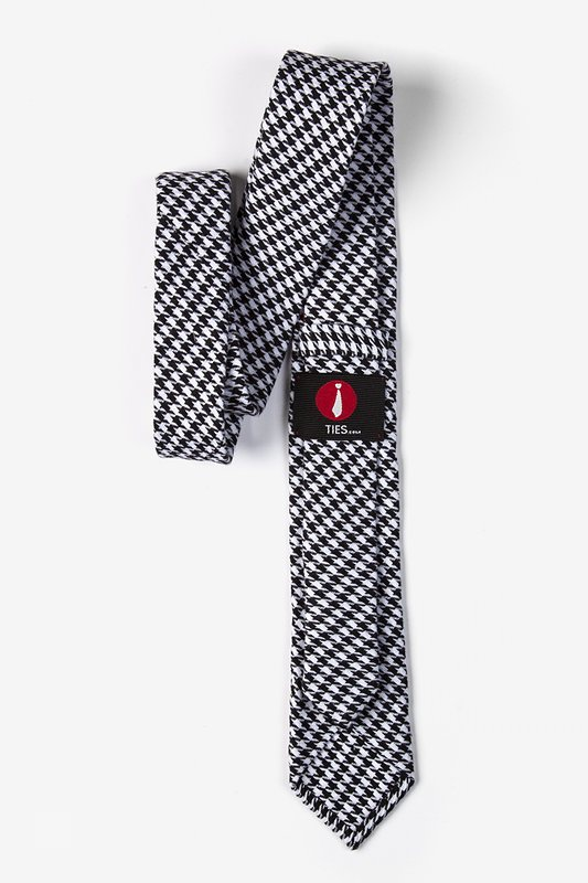 Black Blair Houndstooth Skinny Tie