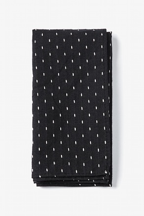Black Dash Pocket Square