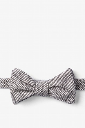 Black Northrup Stripe Butterfly Bow Tie