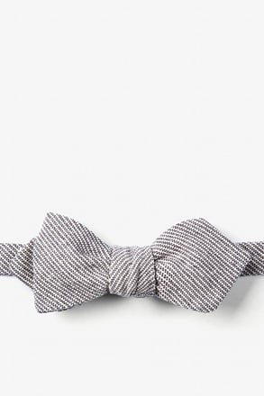 Black Northrup Stripe Diamond Tip Bow Tie