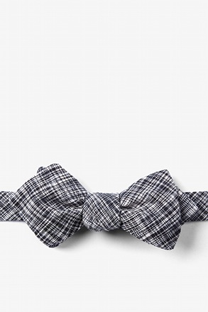 Black Shah Diamond Tip Bow Tie