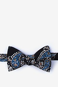 Black Cotton Brett Self-Tie Bow Tie