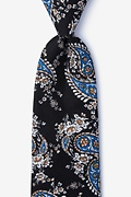 Black Cotton Brett Tie