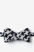 Black Cotton Buckeye Thick Bow Tie