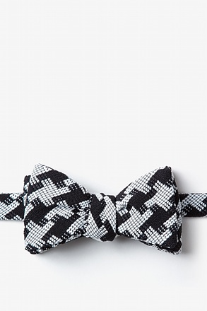 _Buckeye Thick Black Self-Tie Bow Tie_