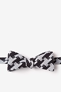 Black Cotton Buckeye Thick Skinny Bow Tie
