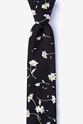 Black Cotton Bucyrus Skinny Tie