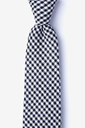 Black Cotton Chardon Extra Long Tie