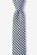 Black Cotton Chardon Skinny Tie