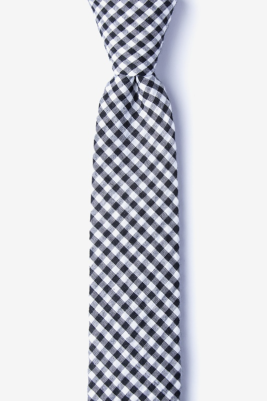Chardon Black Skinny Tie Photo (0)