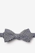 Black Cotton Cottonwood Diamond Tip Bow Tie