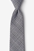 Black Cotton Cottonwood Extra Long Tie