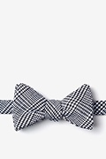 Black Cotton Cottonwood Self-Tie Bow Tie