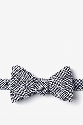 _Cottonwood Black Self-Tie Bow Tie_