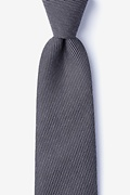 Black Cotton Dover Extra Long Tie