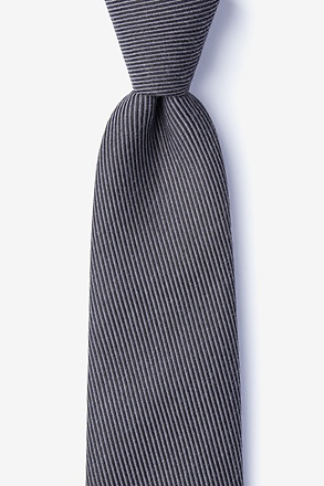 Dover Black Extra Long Tie