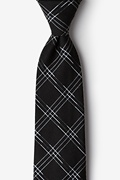 Black Cotton Escondido Extra Long Tie