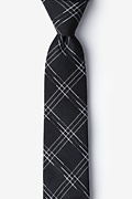 Black Cotton Escondido Skinny Tie