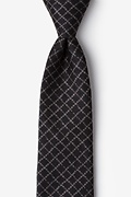 Black Cotton Glendale Tie