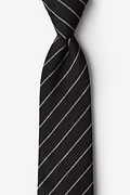 Black Cotton Glenn Heights Extra Long Tie