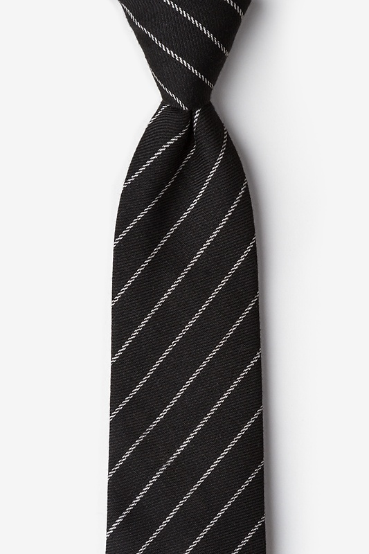 Glenn Heights Black Extra Long Tie Photo (0)
